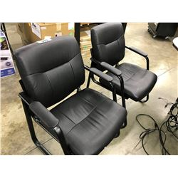 2 BLACK CLIENT CHAIRS (S2)