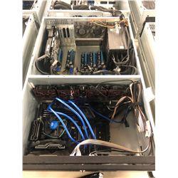4-U RACK MOUNT COMPUTER SYSTEM WITH Z 270 MAINBOARD, RX 570 GPU, 1200 PLATINUM P.S., 8GB DDR 4 RAM