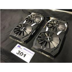 2 ASUS DUAL RX580 8GB GPUS
