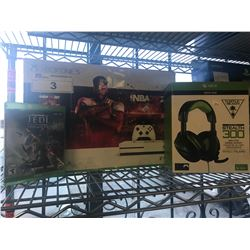 XBOX ONE S, TURTLE BEACH STEALTH 300 GAMING HEADSET, JEDI FALLEN ORDER GAME