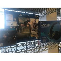 SONY PS4 BUNDLE, PLAYSTATION GOLD WIRELESS HEADSET, DEATH STRANDING GAME