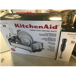 KITCHENAID LARGE DISH DRYING RACK & 2 SPEED IMMERSION BLENDER