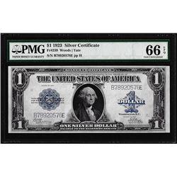 1923 $1 Silver Certificate Note Fr.239 PMG Gem Uncirculated 66EPQ