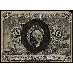 March 3, 1863 Ten Cent 2nd Issue Fractional Currency Note
