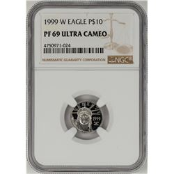1999-W $10 Proof Platinum American Eagle Coin NGC PF69 Ultra Cameo