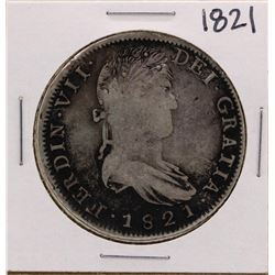 1821 Spanish 8 Reales Silver Coin