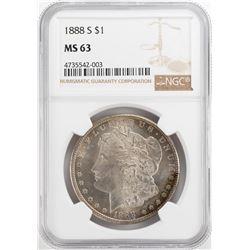 1888-S $1 Morgan Silver Dollar Coin NGC MS63