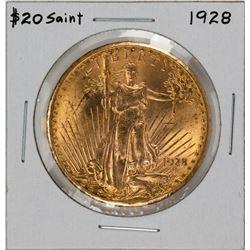 1928 $20 Saint Gaudens Double Eagle Gold Coin
