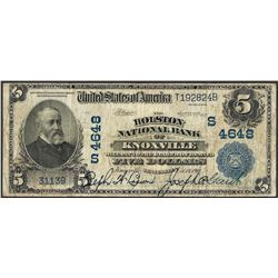 1902 $5 Holston NB of Knoxville, TN CH# 4648 National Currency Note