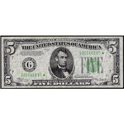 1934A $5 Federal Reserve STAR Note Chicago