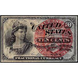 March 3, 1863 Fourth Issue 10 Cents Fractional Currency Note w/ Presentation Signature