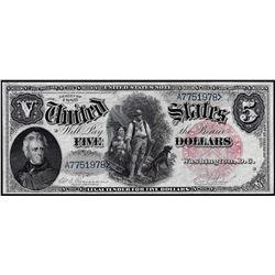 1880 $5 Woodchopper Legal Tender Note