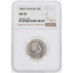 1883 Kingdom of Hawaii Quarter Coin NGC AU55