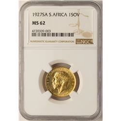 1927SA South Africa Sovereign Gold Coin NGC MS62