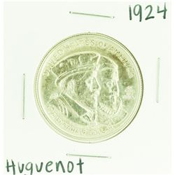 1924 Huguenot - Walloon Tercentenary Commemorative Half Dollar Coin