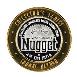 .999 Fine Silver John Ascuaga's Nugget Sparks, NV $10 Limited Edition Gaming Token
