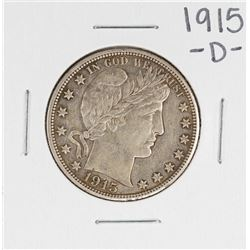 1915-D Barber Half Dollar Coin