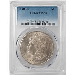 1900-S $1 Morgan Silver Dollar Coin PCGS MS63