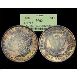 1885 $1 Proof Pattern J-1747 Snowden Morgan Silver Dollar Coin PCGS PR62 OGH