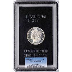 1882-CC $1 Morgan Silver Dollar Coin GSA PCGS MS63DMPL
