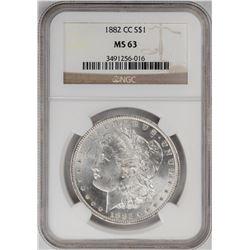 1882-CC $1 Morgan Silver Dollar Coin NGC MS63