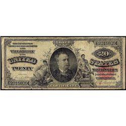 1891 $20 Windom Silver Certificate Note