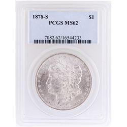1878-S $1 Morgan Silver Dollar Coin PCGS MS62