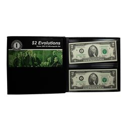 Evolutions Set - Matching Serial Number 2003 $2 Federal Reserve Notes Minneapolis