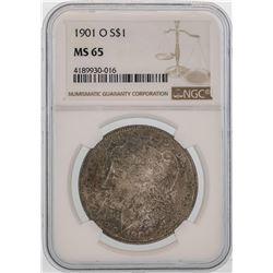 1901-O $1 Morgan Silver Dollar Coin NGC MS65