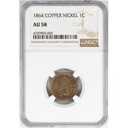 1864 1 Cent Copper Nickel Coin NGC AU58