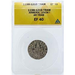 1198-1219 Armenia Tram Levon I Coin ANACS EF40