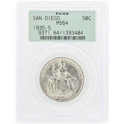 1935-S San Diego Commemorative Half Dollar Coin PCGS MS64