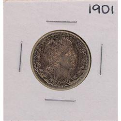 1901 Barber Silver Quarter Coin