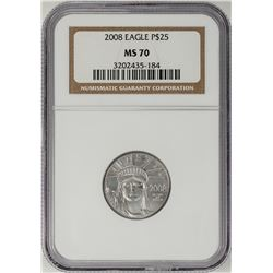 2008 $25 Platinum American Eagle Coin NGC MS70