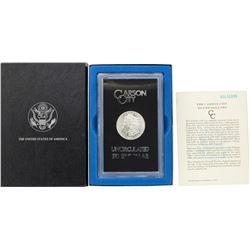 1880-CC $1 Morgan Silver Dollar Coin GSA Hoard Uncirculated w/ Box & COA