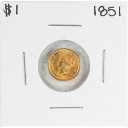 1851 $1 Liberty Head Gold Dollar Coin