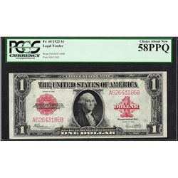 1923 $1 Legal Tender Note Fr.40 PCGS Choice About New 58PPQ