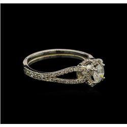 0.87 ctw Diamond Ring - 14KT White Gold
