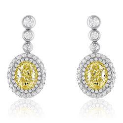 18k Two Tone Gold 2.39CTW Diamond Earrings, (VS1-VS2/VS1-SI1/G-H)