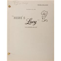 Lucille Ball (40+) scripts from The Lucy Show, Here's Lucy, and Life With Lucy.