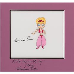 I Dream of Jeannie opening credits animation cel signed by Barbara Eden.