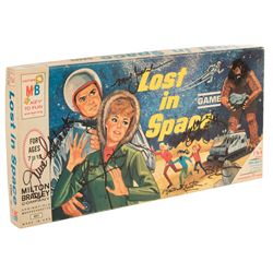 Lost in Space cast signed Milton Bradley board game.