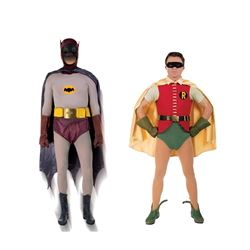 The Dynamic Duo -'Batman' complete Batsuit & 'Robin' complete uniform from Batman.