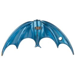 Burt Ward 'Robin' hero folding 'batarang' from Batman.