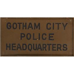 'Gotham Police Department' sign from Batman.