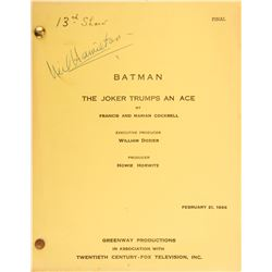 Batman television series (9) season-one shooting scripts.