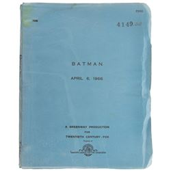 Batman cast signed Final Draft shoot script.