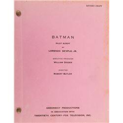 Batman television series pilot-episode shooting script.