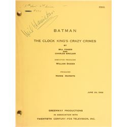 Batman television series (10) first-half of season-two shooting scripts.