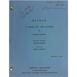 Batman television series (10) second-half of season-two shooting scripts.
